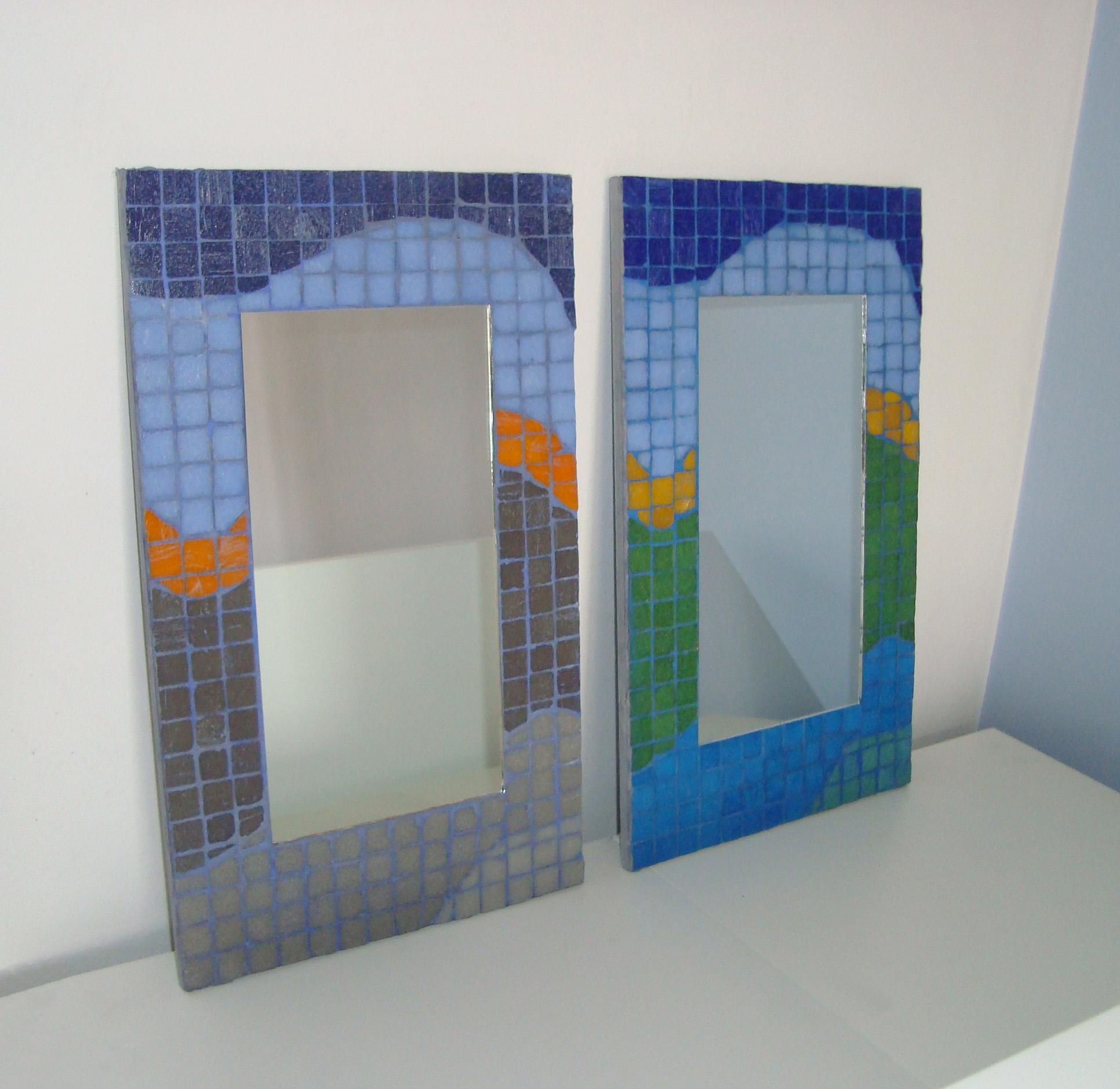 Marcos con venecitas mosaico veneciano for Mosaicos para espejos