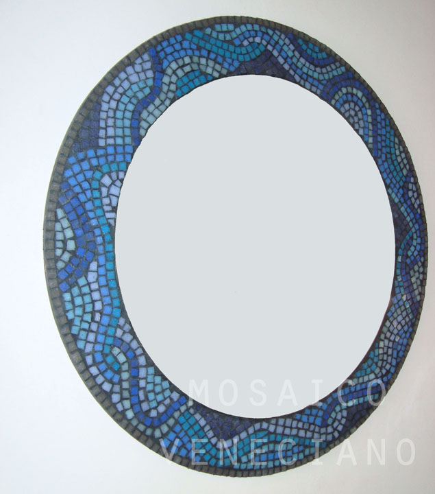 espejo redondo con venecitas   Mosaico Veneciano