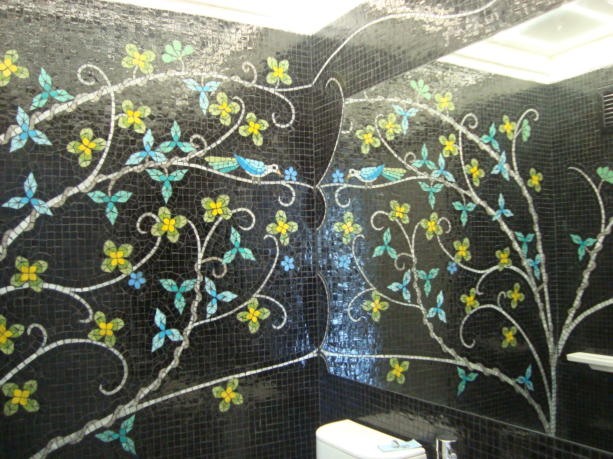 Paredes con venecitas mosaico veneciano for Revestimiento venecitas para banos